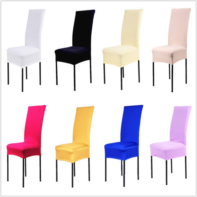 1 Piece Polyester Spandex Dining Chair Covers For Wedding Party ...