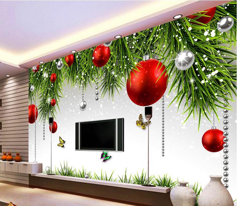 Online Shop Customized 3d Photo Wallpaper 3d Wall Mural Wallpaper Festival  Christmas TV Wall Mural 3d Wallpaper For Living Room Wall Decor |  Aliexpress ... Part 79