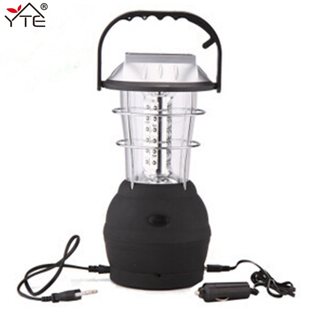 YTE Portable Outdoor Light Multifunction Solar 36 LED Hand Crank Lamp Rechargeable Outdoor For Camping Hiking Fishing Tent Light