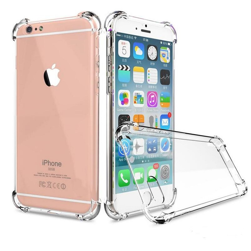 Shockproof Transparent Case for iPhone X 8 7 6 6S Plus Soft Gel TPU Case Clear