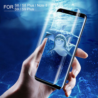 6D Full Cover Screen Protect Film Cover For Samsung Note 9 8 S7 Edge Tempered Glass 9H Explosion-proof Case For Galaxy S9 S8Plus