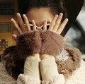 Новые осенние и зимние перчатки Женщин перчатки без пальцев мода унисекс airsoft перчатки фитнес мягкий теплый наручные варежки 9 цвет