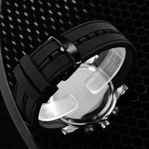 Image 5 - SINOBI sportowe cyfrowe zegarki męskie chronograf męskie zegarki wodoodporne czarne Watchband męskie wojskowe genewa kwarcowy zegar