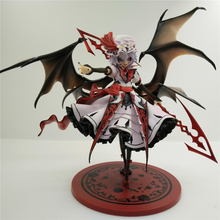 Haocaitoy 23cm Anime Painted Action Figure 2th Remilia Scarlet 1/8 Scale Dolls Collection Figurine PVC Model Toys sex anime character 1pcs 1 6 scale painted bible black rika shiraki action pvc figure model toy tall 13cm for collection