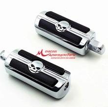Хром Череп Подножки для Harley Davidson Softail Dyna Glide Sportster