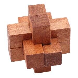 Image 3 - Houten Kong Ming Lock Game Speelgoed Voor Kinderen Volwassenen Kids Drop Verzending Iq Brain Teaser Elkaar Grijpende Burr Puzzels