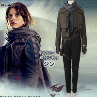 Rogue One A Star Wars Story Costume Jyn Erso Cosplay Halloween Carnival Cosplay Costume Adult Women