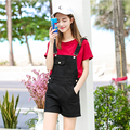 Brand 2016 Summer Denim Shorts Plus size Womens Jumpsuit Denim Overalls Casual Skinny Girls Pants Spaghetti Strap Jeans Short