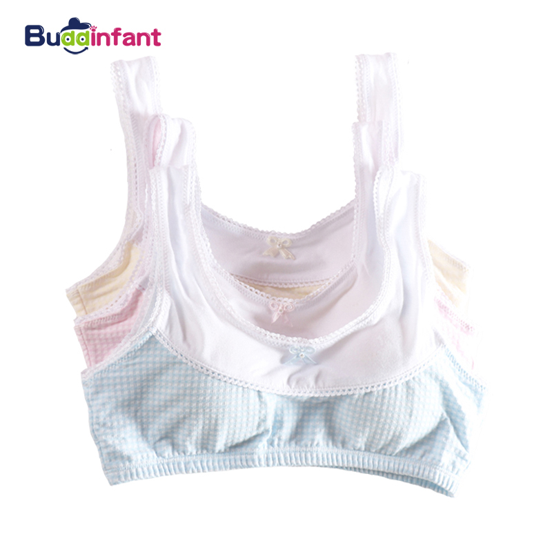 Teenage Underwear Small Cup Plaid Lingerie Children Thin