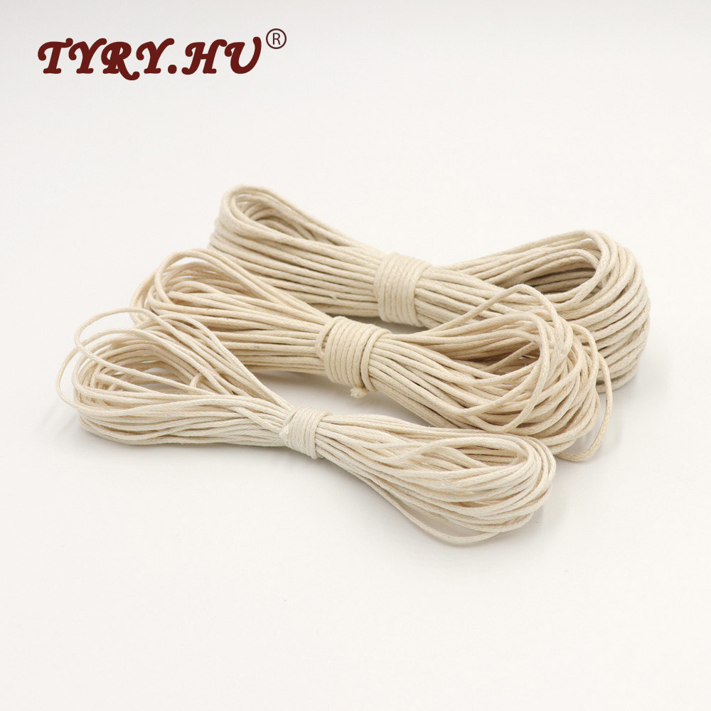 TYRY.HU 10M Waxed Cotton Cord For Jewelry Making 1/1.5/1.8mm Rope Waxed Twisted String Thread Line Strong Soft Safe For Baby дутики nordman