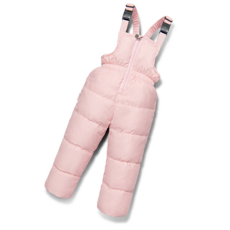 2017 Winter kids baby boy girl pants duck down trousers overalls thick pants for 18M-6Y child clothing for cold Russia winter