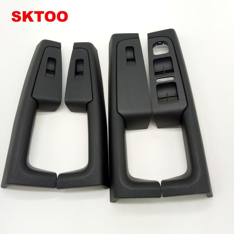 SKTOO A Set (Black)For Skoda Superb Inner door handle door armrest, switch box inside the door of the glove package