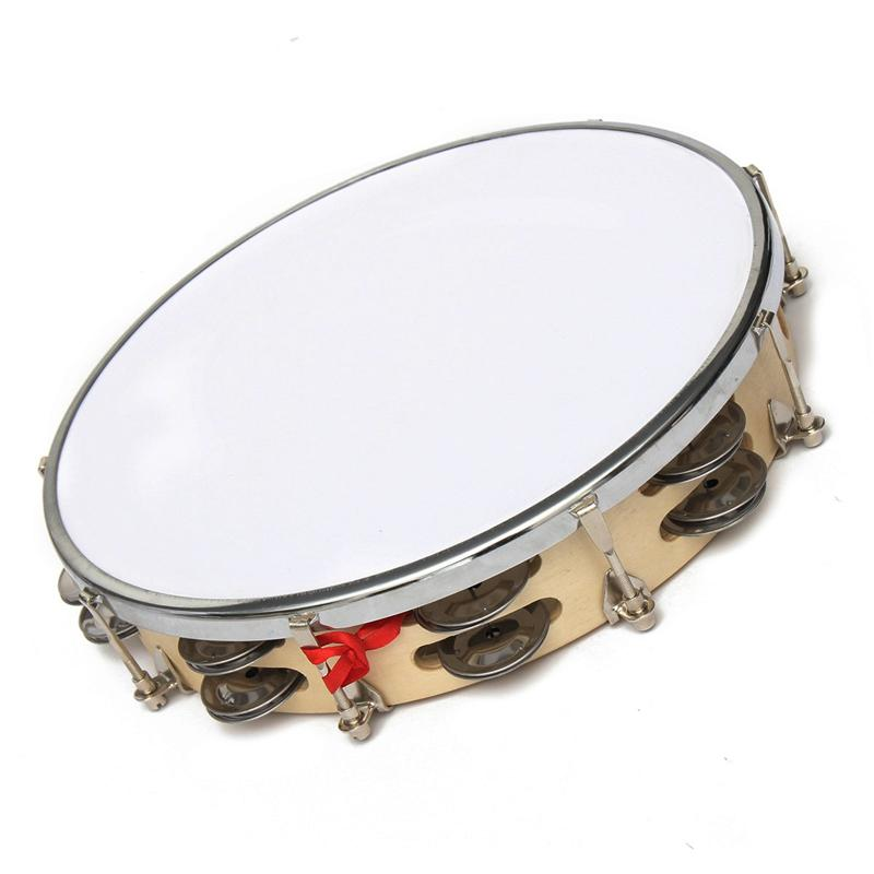 """New Arrival 8""""/10"""" Capoeira Leather Pandeiro Drum Music Instruments Tambourine Percussion Membranophone Gifts for Music Lovers"""