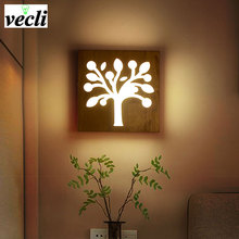 Modern Wall Lamps Sconces Living Room Wooden Restaurant Bedroom Decorative Wall Lights Lamparas Home Lighting Fixture holigoo pendant lamp acrylic stainless restaurant bedroom decorative pendant lights lamparas living room home lighting lampe