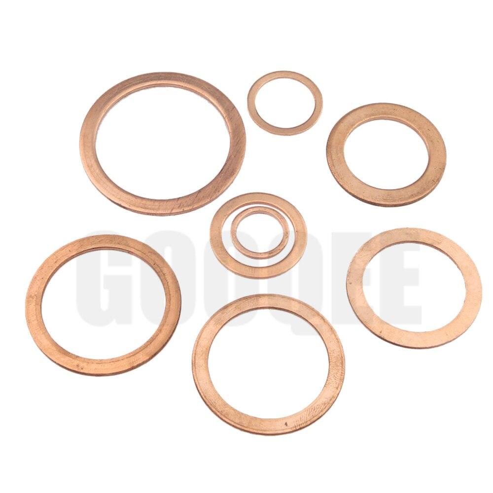 10/20 Stücke Solide Kupfer Washer Flache Ring Dichtung Sump Stecker Öl Dichtung Armaturen 10*14*1mm Verschluss Hardware Zubehör 10x14x1mm Up-To-Date-Styling