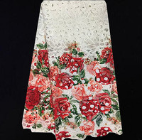 ZD64 2 White Beautiful Design African Cord Lace Fabric Hot Sale French Lace Fabric Good Quality