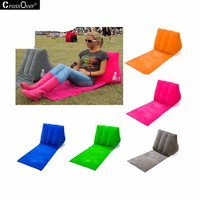 Free Shipping Triangle Cushion Camping Waterproof Pillow Beach Vacation Inflatable Pillow Easy To Carry Cushions Hot