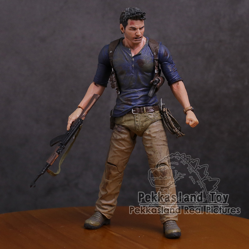 NECA Uncharted 4 A thief's end NATHAN DRAKE Ultimate Edition PVC Action Figure Collectible Model Toy 18cm neca pacific rim jaeger striker eureka pvc action figure collectible model toy 7 18cm