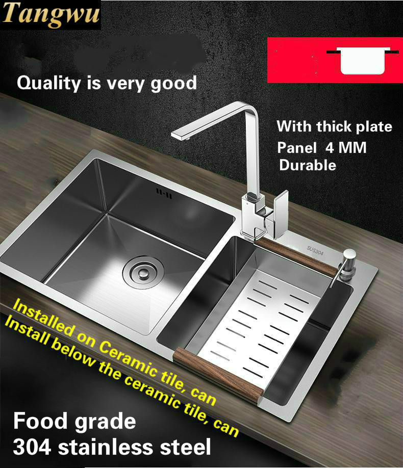 Tangwu High quality food grade 304 stainless steel kitchen sink 4 ...