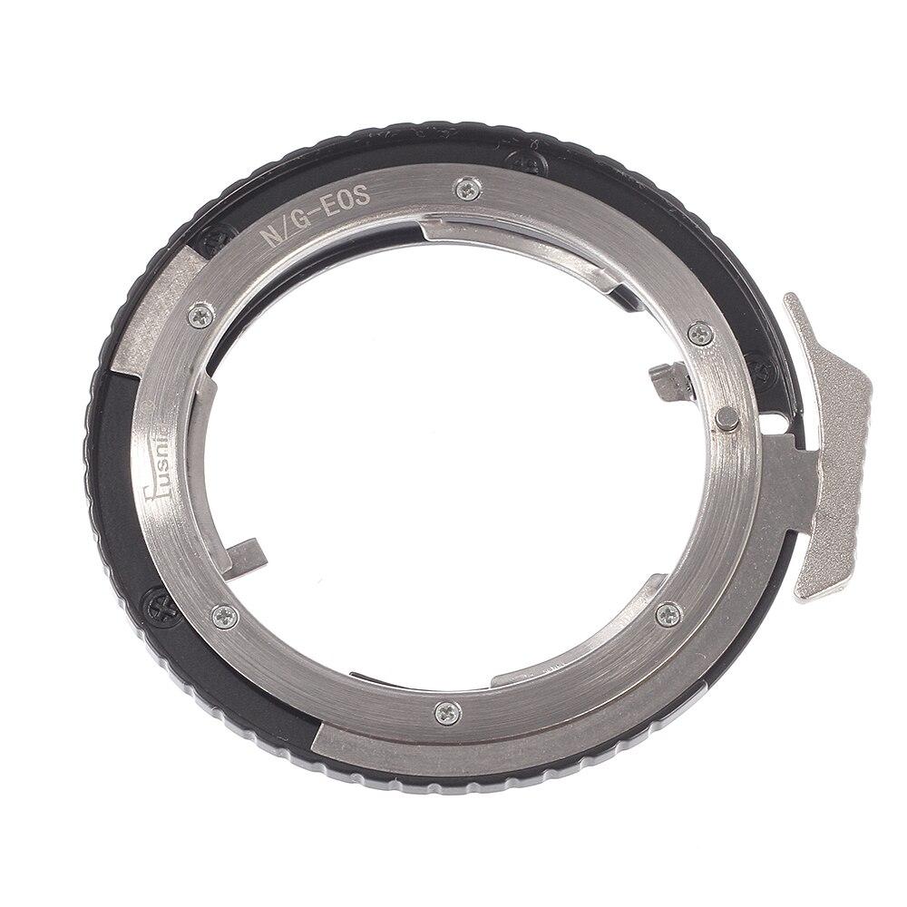 Anillo adaptador de lente de enfoque Manual para lente Nikon AI G D S a cuerpo de cámara Canon EOS DSLR