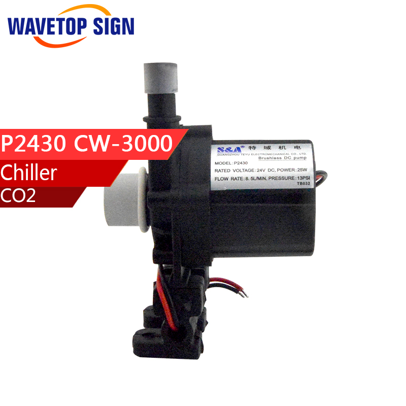 chiller cw-3000 AG water pump cw3000 water pump P2430 chiller cw 3000 cw 5200 water pump voltage 24v dc power 30w flow rate 8 5l min head 8 meter