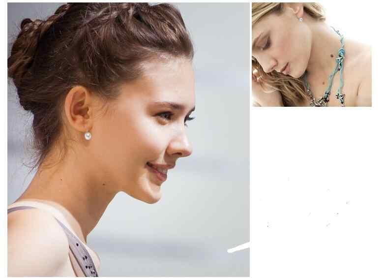 EY406 2018 nueva moda después de la popularidad de la imitación natural de agua dulce 8mm pendientes colgantes de perlas joyería al por mayor
