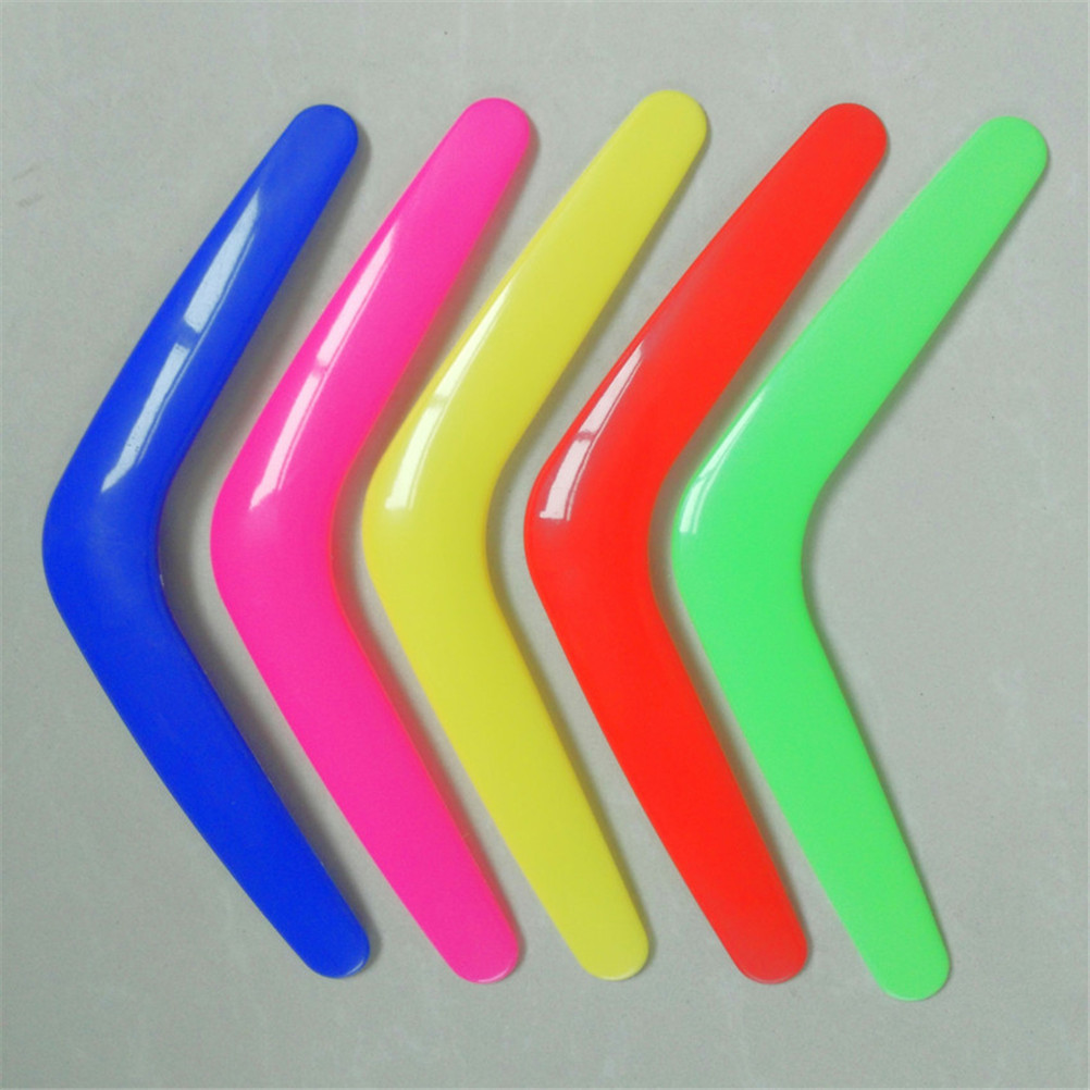 V Shape Boomerang Handmade Plastic Outdoor Fun Sports Luminous Outdoor Park Special Flying Toys Flying Disk Flying Saucer