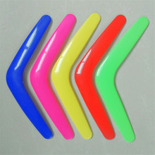 V Shape Boomerang Handmade Plastic Outdoor Fun Sports Luminous Outdoor Park Special Flying Toys Flying Disk Flying Saucer fun plastic flying disk for kids red