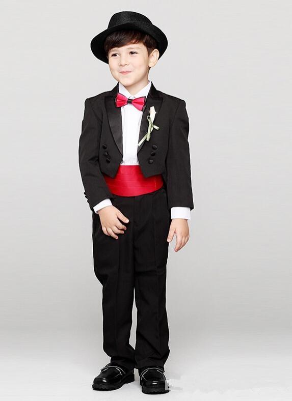 Garçon A As Blazer Noir Ensemble Tailcoat Mode Pantalon Sommet Un Revers De Beau  Fleur Atteint ... 95f7950d901