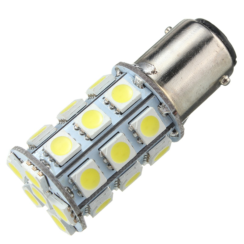 1157 BAY15D 5050 SMD 4W 324LM 27 Auto  LED Tail Anchor Reverse Light Lamp Corn Bulb Pure White 6000K DC12V