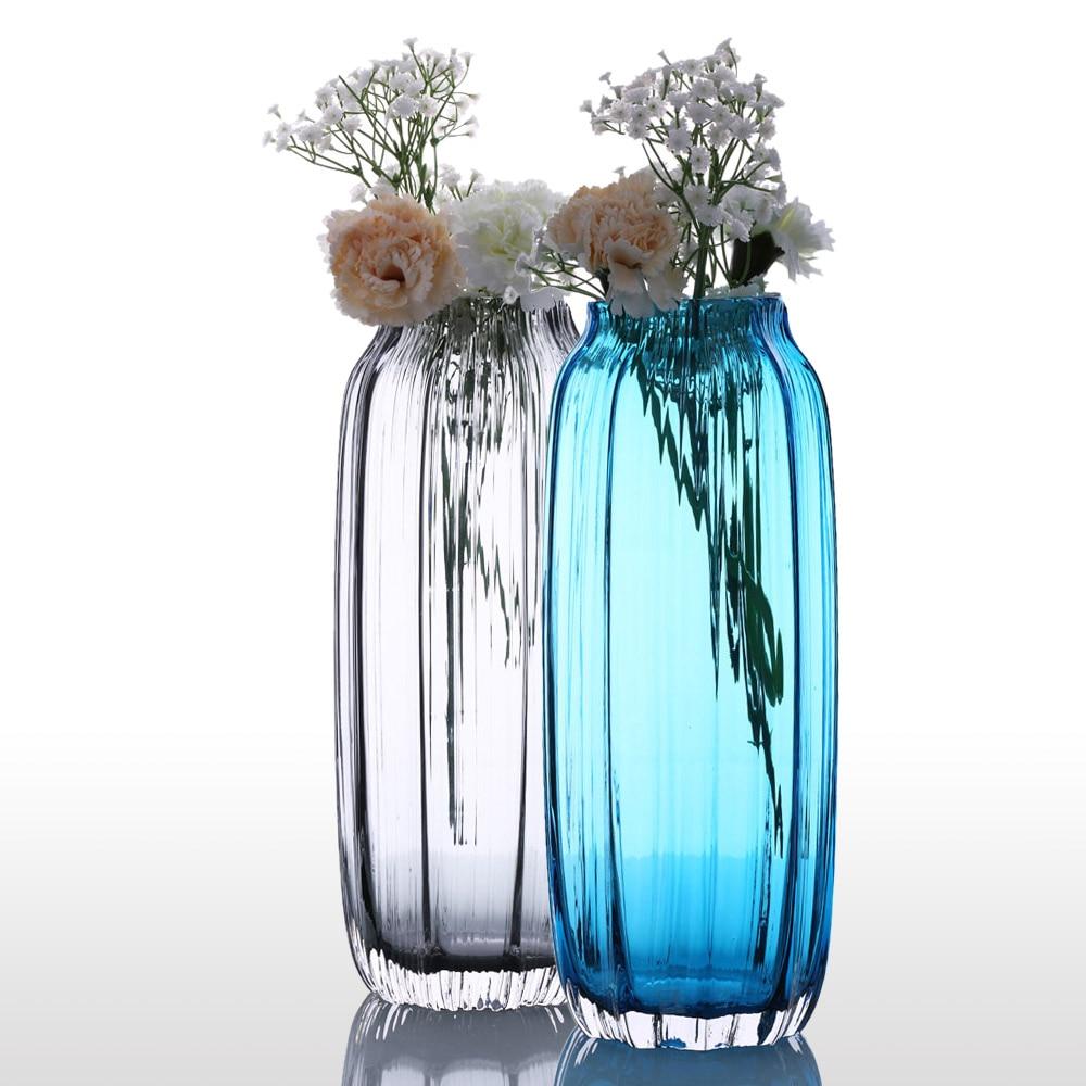 popular designer glass vasesbuy cheap designer glass vases lots  - casamotion glass vase modern ribbed design glass vase home room decorationfloral arrangements straight shape flower