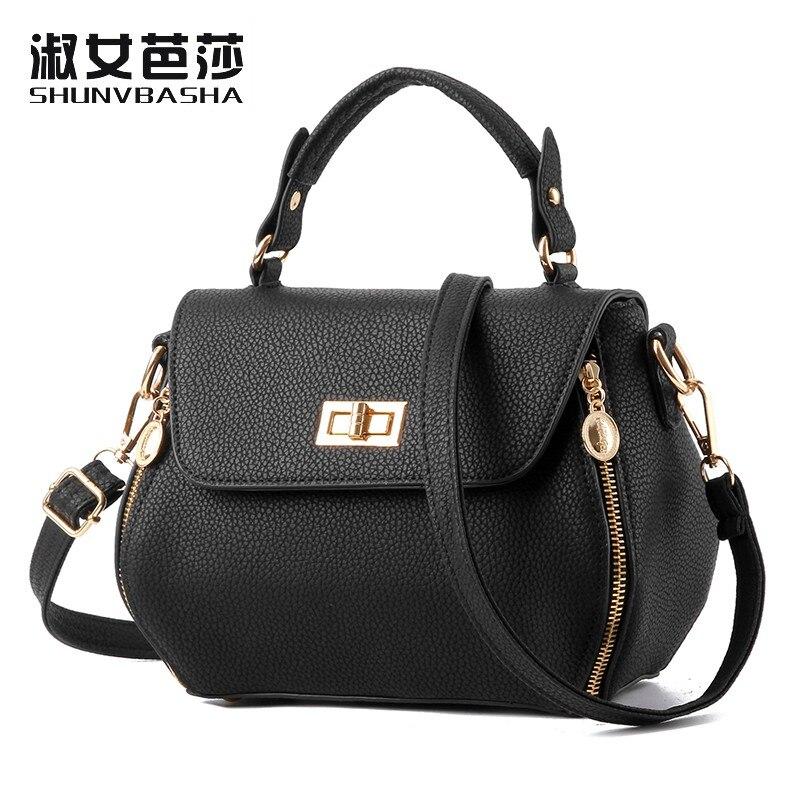 ФОТО SNBS 100% Genuine leather Women handbags 2017 New fashion handbags temperament stereotypes Shoulder Messenger Handbag