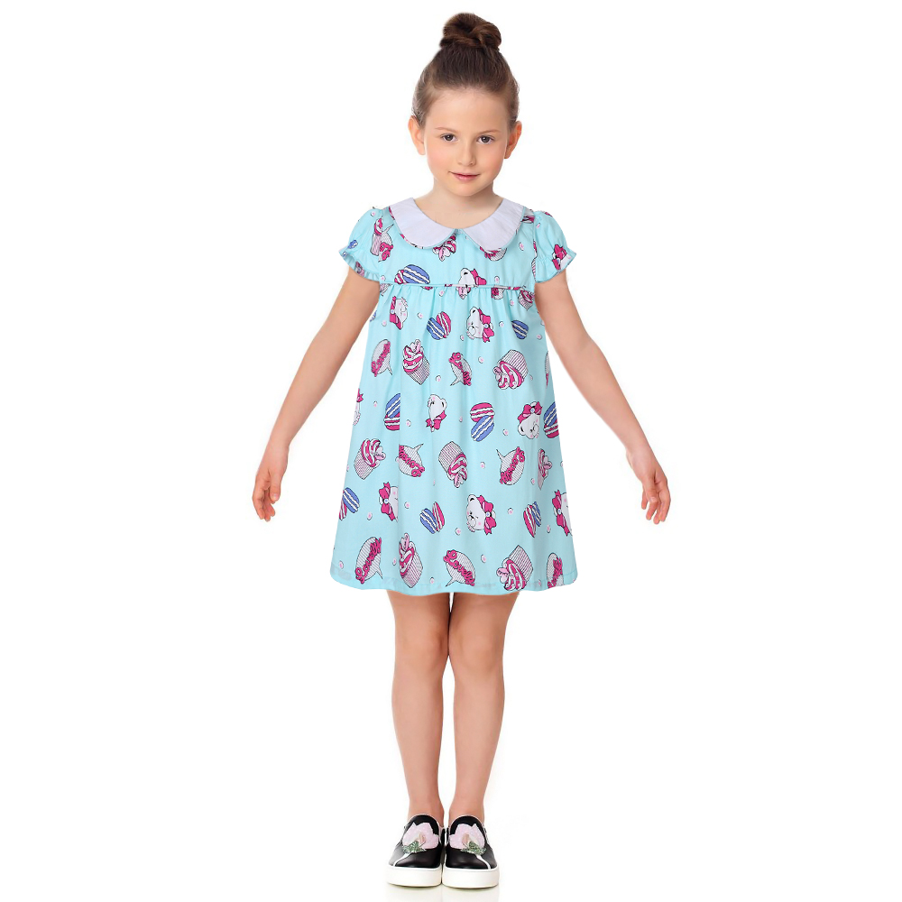 Girls Cute Dress Kids Costume Princess 2017 Brand Clothes Toddler Girl Dresses Summer Character Print Vestidos Children Clothing  hssczl girls dress summer 2017 brand kids print floral sleeveless toddler girl children dress flowers fille costume clothes