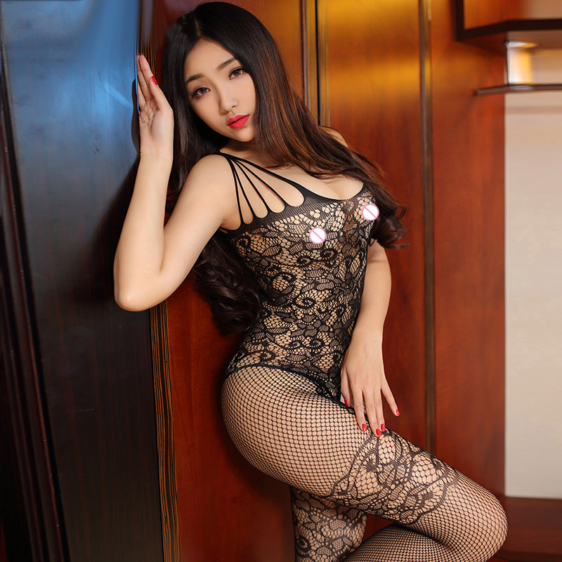 Buy new hollow black Open Crotch Stockings mesh fishnet sexy lingerie hot open crotch Sexy costumes pole dance erotic Lingerie 805