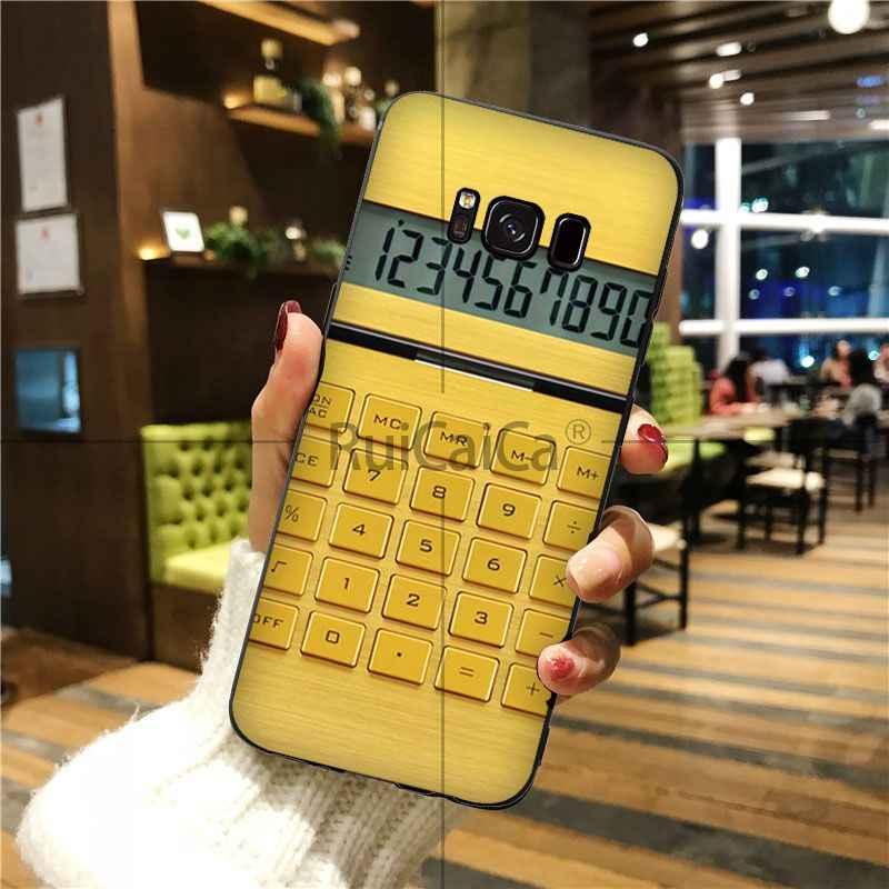 Ruicaica Retro charakterystyczne dla śmieszne kalkulator malowane pokrywa Shell etui na telefony dla GALAXY s6 krawędzi krawędzi plus s7 krawędzi s8 plus s9 plus