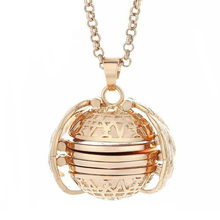 Expanding Photo Locket Necklace Pendant Choker Angel Wings Gift Jewelry Decoration Necklace Exquisite Ornaments Torque Pendant(China)
