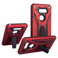 For LG V30 case Hybird TPU&PC Plastic Dual Armor Case with Stand for LG V20 Back Cover Coque for LG G5 G6 Case Accessories protective tpu pc back case w stand for lg optimus g2 black red