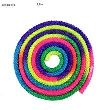 2.8m Colorful gymnastics Rope Rhythmic Gymnastics Rope Dance Gym Rope Body Building rhythmic gymnastics rope for woman standard