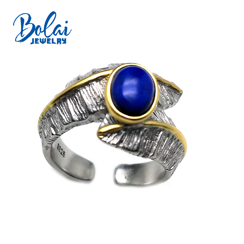 bolaijewelry,Big gemstone Afghan Lapis men's Ring in 925 sterling silver fine jewelry for anniversary party&daily wear best gift цены