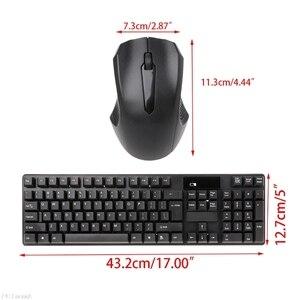 Image 3 - Alta qualidade 2.4 ghz teclado sem fio kit combinação de rato óptico para computador portátil desktop