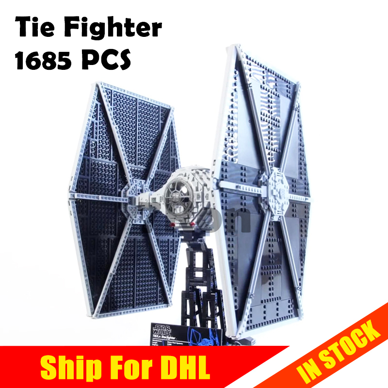 1685pcs Star 05036 Series Wars Tie Fighter Model Building Toys hobbies Educational Blocks Bricks Compatible with lego 75095 Gift 2015 high quality spaceship building blocks compatible with lego star war ship fighter scale model bricks toys christmas gift