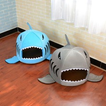 Dog House Cartoon pet Bed Shark For Large Dogs Tent High Quality Cotton Small Cat Puppy Pet Product