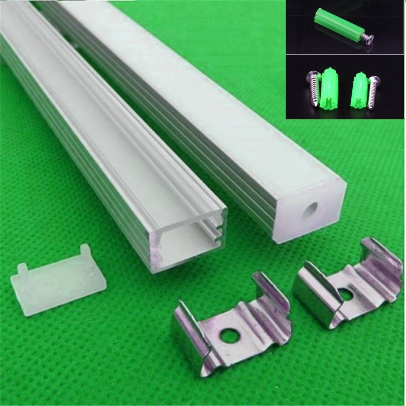 5 30set lot 12mm strip led aluminium profile for led bar light led aluminum channel tape