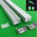 5-30 компл./лот 12 мм полоса СВЕТОДИОДНЫЙ алюминиевый профиль для светодиодного светильника  светодиодный алюминиевый канал  крышка ленты  под...