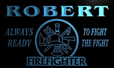 x0003-tm Robert Firefighter Fire Department Custom Personalized Name Neon Sign Wholesale Dropshipping On/Off Switch 7 Colors DHL