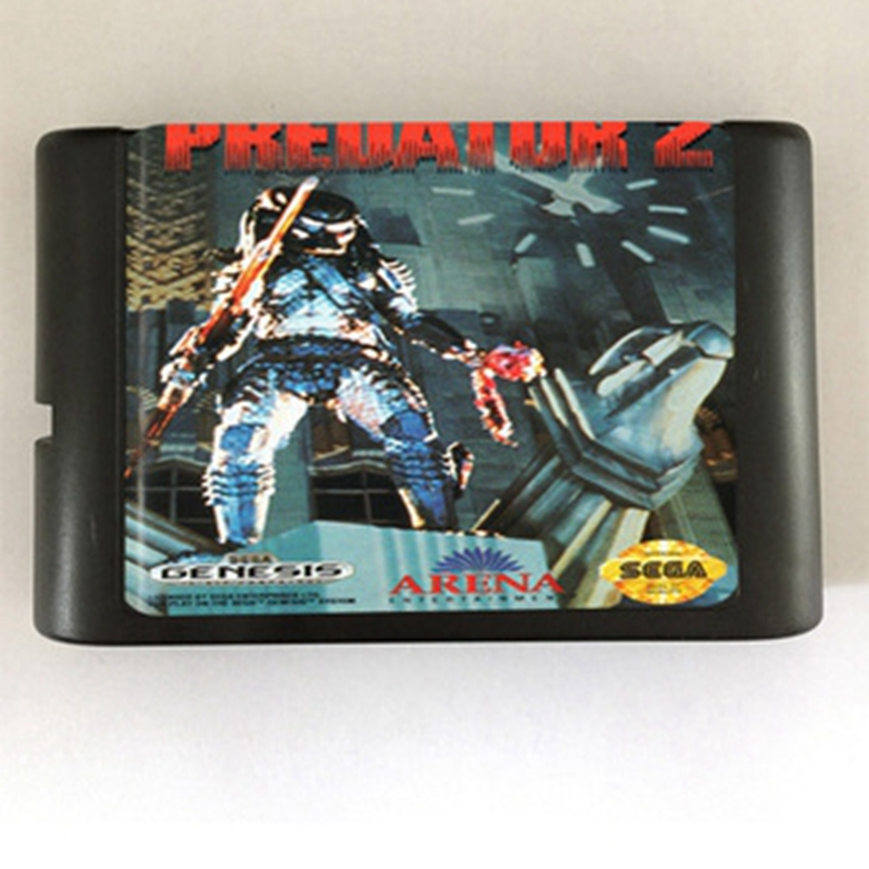 Predator 2 Game Cartridge Newest 16 bit Game Card For Sega Mega Drive / Genesis System