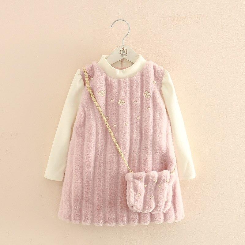 2018 automne hiver bébé fille épaississement robe enfants plus velours robe fille robes de fête vêtements - 3
