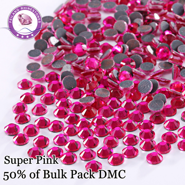Luxutious Super Pink DMC Hotfix Rhinestones For Clothing Accessories DIY  Decoration Iron On Stones SS6 SS10 SS16 SS20 SS30 0cc926e6f5da