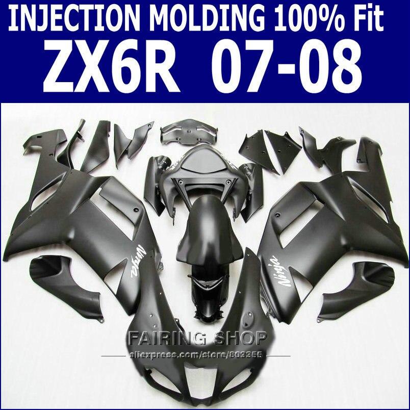 ᑐZX6R 2007 2008 Kit de carenado para Kawasaki Ninja ZX-6R 07 08 ...