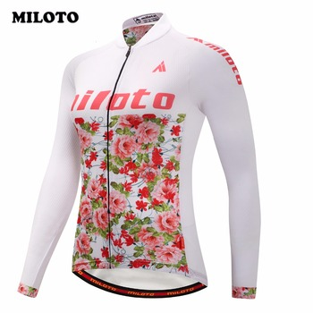 7ce2c87e7354 MILOTO Pro bicicleta camiseta Tops mujer manga larga Ropa Ciclismo camiseta  Ropa Radfahren verano ...